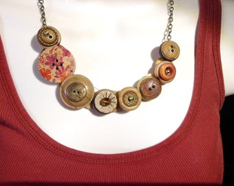 Natures Bounty button necklace