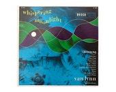 """Piedra Blanca record album design, 1954. Van Lynn """"Whispering Moonlight"""" LP for Decca"""