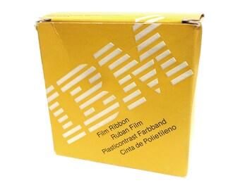 Paul Rand IBM typewriter Film Ribbon packaging design, 1975.