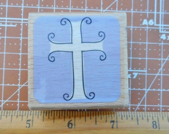 Cross Rubber Stamp by katie& co.