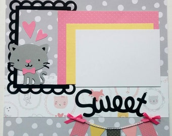 Girl premade scrapbook page - Girl scrapbook page - Baby girl scrapbook page - 12x12 Scrapbook layout - 12x12 Scrapbook page girl