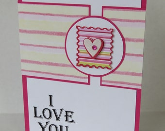 I Love You Heart Stamp Christian Valentine Or Anniversary Card With Scripture