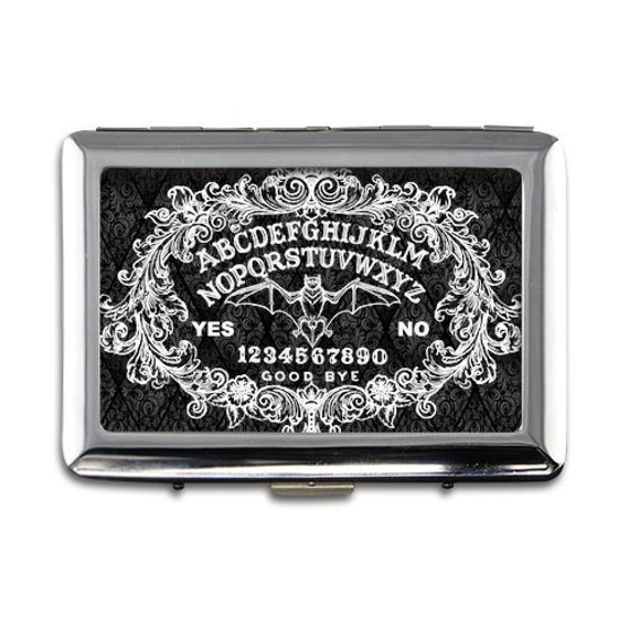 Ouija Board with Bat Money/card/cigarette case printed on both sides