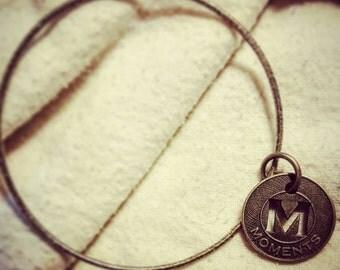 Bangle Bracelet with Moments Charm