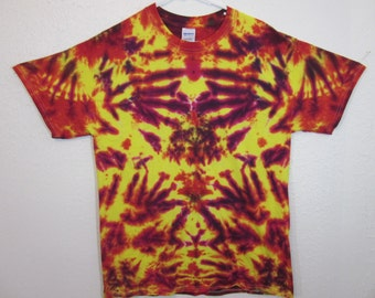 Tie Dye Unisex Size Large Fuschia and Yellow Rorschach