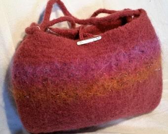 Hand Knit, Felted Handbag, #42