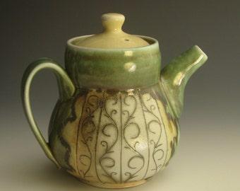 Wood-soda fired teapot