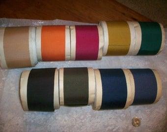 "Vintage Petersham cotton/rayon ribbon  2 1/8"""