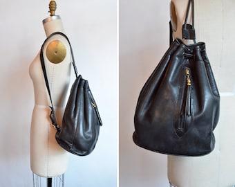 Vintage 1990s UGO SANTINI shoulder bag w/ leather tassel