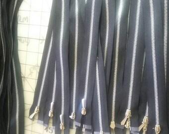 Zippers, metal Seperating Zippers,  Jacket Zippers, 26 Inch metal zippers