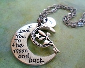 Moon Fairy Necklace, I love you to the Moon and Back, Girlfriend Gift, Best Friend, Teen Girls, Women, Friendship, Bff, Bestie, Birthday