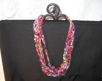 Ladder Necklace, Trellis Necklace / Crochet Necklace