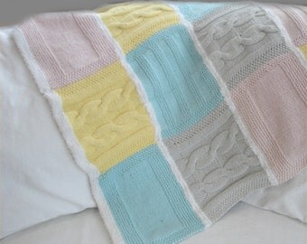 Knitting PATTERN- Cozy Baby Blanket PDF knitting pattern