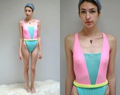Neon Bathing Suit //  HIgh Cut Swimsuit   //  ST THOMAS