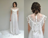 70s Wedding Dress  //  Chiffon Wedding Gown  //  THE MAJESTIC