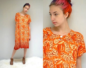 70s Batik Dress  //  Tent Dress  //  THE BAJU