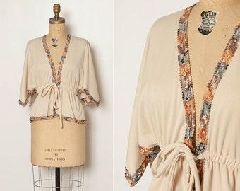 vintage 1970s boho wrap blouse