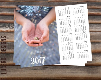 8x10 2017 annual calendar PSD template - week starting with Sunday
