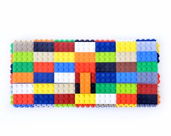 Multicolor clutch purse made with LEGO® bricks FREE SHIPPING purse handbag legobag trending fashion
