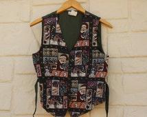 Vintage 90s Ugly Christmas Vest