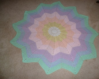 Pastel Star Shaped Baby Blanket