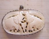 faux ivory elephant pendant - boho pendant charm
