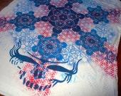 2XL Steal Your Face Metatron's Cube Hand Painted Mandala Chakra Tee shirt