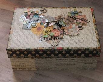Hearts and Flowers Keepsake Box