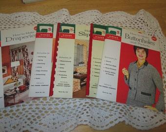 Singer Library Set of 5 Books Draperies Buttonholes Dressmaker Collars Slipcovers