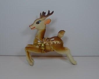 Vintage Vinyl Plastic Reindeer