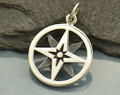 North Star Compass Charm -  C1757, Nautical, Wind, Charts, Maps, Good Luck Charms