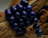 Lapis Lazuli Beads 8mm Round  - Dark Blue, AAA Grade Gemstones