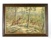 Frolicking Deer Print