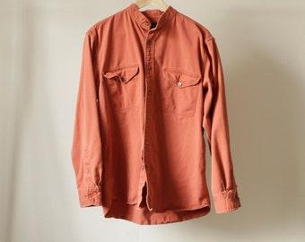oxford FADED burnt orange MEN'S vintage normcore shirt