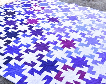 King Quilt, California King Quilt, Handmade Quilt, Purple