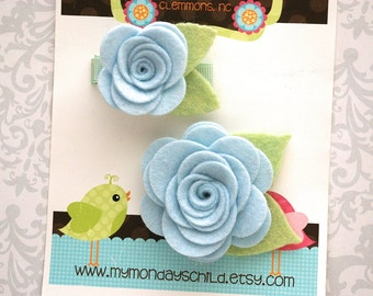 Mommy and Me Hair Clips, Mother Daughter Hair Clips, Mommy and Me Matching, Felt Flower Hair Clips, Felt Hair Clip, Sister Set Hair Clips