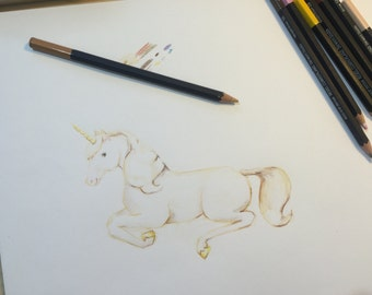 Commissionable Watercolor or Colored Pencil Animal