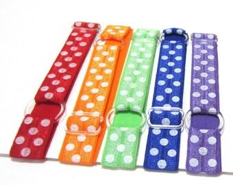 Set of 5 Polka Dots Adjustable Elastic Headband, Hair Band, Girl Headband, Baby Headband, Adult Headband, Toddler Headband, Sport Headband