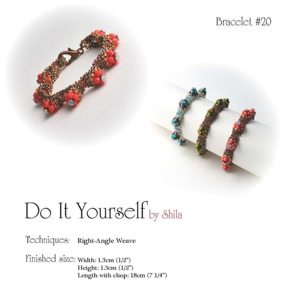 Step By Step INSTANT Download Pdf Beading PATTERN Bracelet 20