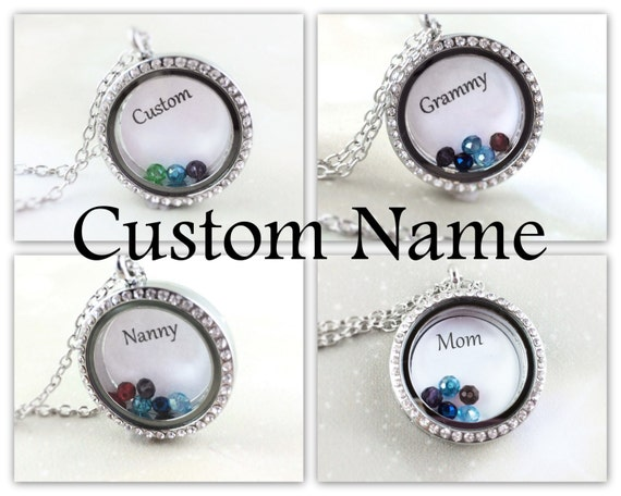 Personalized Birthstone Locket Necklace