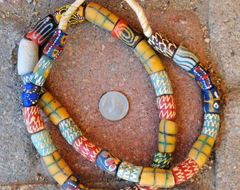 Mixed African Krobo Beads: Large