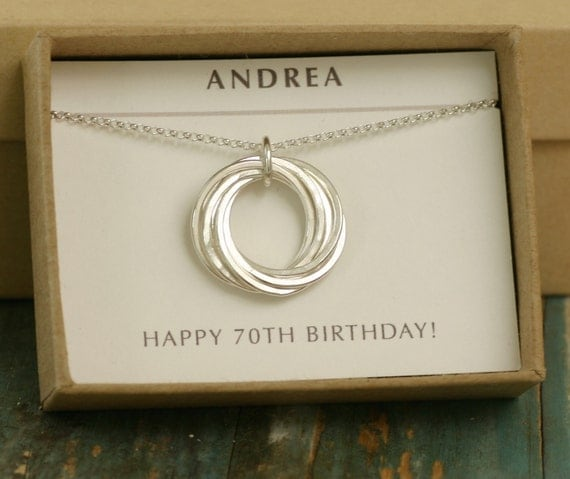 70th Birthday Gift Grandmother Necklace 7 By ILoveHoneyWillow