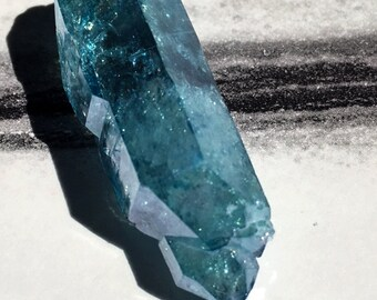Aqua Aura Jewelry Point ARKANSAS quartz Reiki Wicca Metaphysical a4