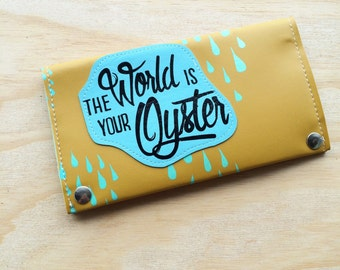 The World is your Oyster vegan travel wallet