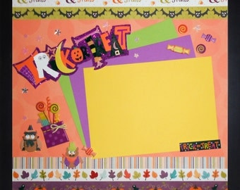 TRICKS AND TREATS Memory Album Page (Veneer Shadow Box Frame Sold Separately)