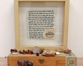 Framed Mixed Media with Embroidery / Book Page with Embroidered Bowl