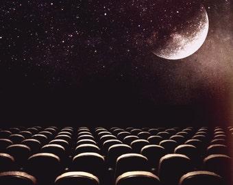 Stargazing - Fine Art Photograph - Wall Art - Space Theater - Digital Collage