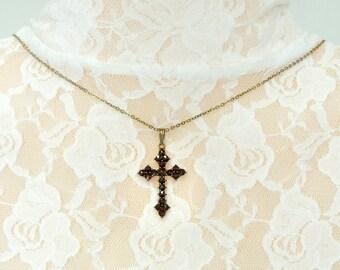 Cute Bohemian garnet cross || ГРАНАТ