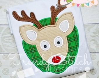 Deer Mount Applique Machine Embroidery Design INSTANT DOWNLOAD rudolph