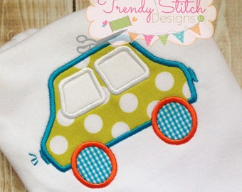 Simple Car Applique Machine Embroidery Design INSTANT DOWNLOAD